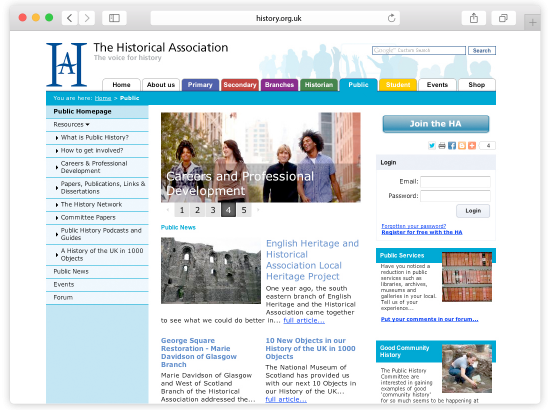 Historical Association Website Design and Programming