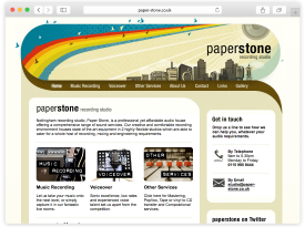 Paper Stone Recording Studio Website