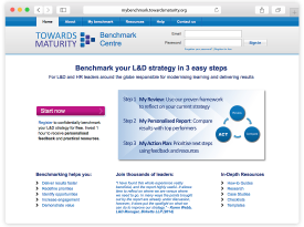 Towards Maturity Benchmark Centre Website