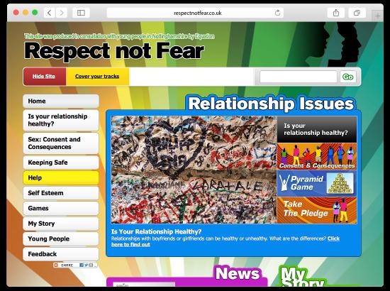 Equation - Respect Not Fear website