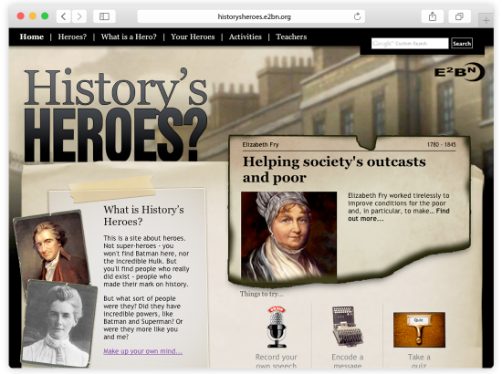 E2BN History's Heroes Website and Games