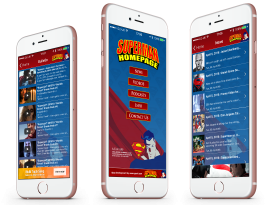 The Superman Homepage iPhone, Android, Kindle and Blackberry App