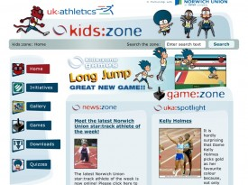 UK Athletics – Kids Zone Website and Games