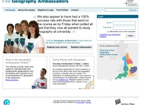 Find Geography Ambassadors Website