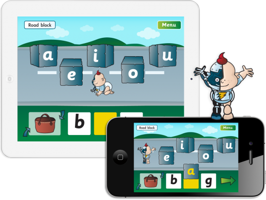 Fab-Phonics 'Road Block' App for iPhone and iPad