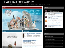 James Barnes Music Website