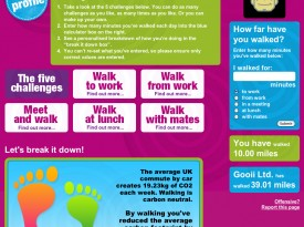 'Walk to Work Week 2009' Website