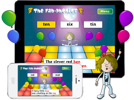 Fab-Phonics 'Rap and Tap' App for iPhone and iPad