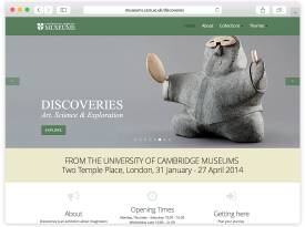 University of Cambridge Museums - Discoveries Website Design