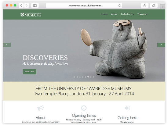 University of Cambridge Museums - Discoveries Website
