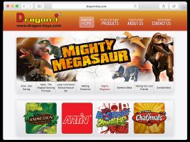 Dragon-i Toys Website Design