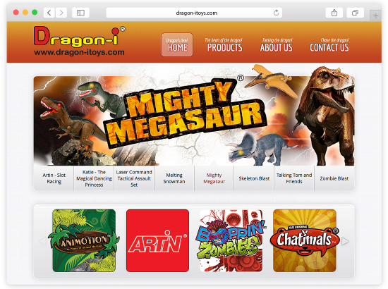 Dragon-i Toys Website Design