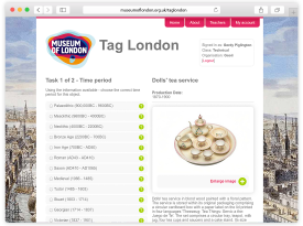 Museum of London 'Tag London' Website Design and Build