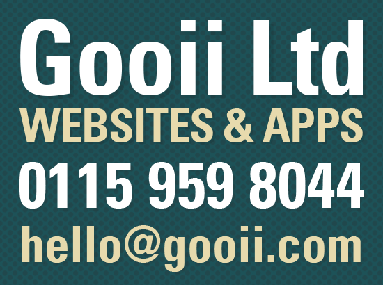 Contact us on 0115 9598044 or email hello@gooii.com