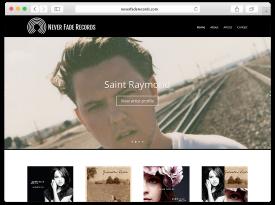 'Never Fade Records' Website and Logo Design