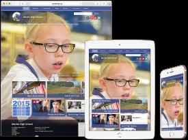 The Martin High School - Responsive Website
