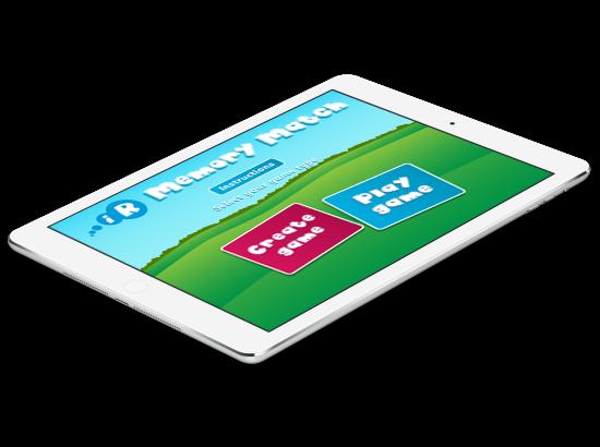Memory Match iPad App
