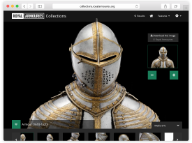 Royal Armouries - 'Collections' Website Design and Build: BETA