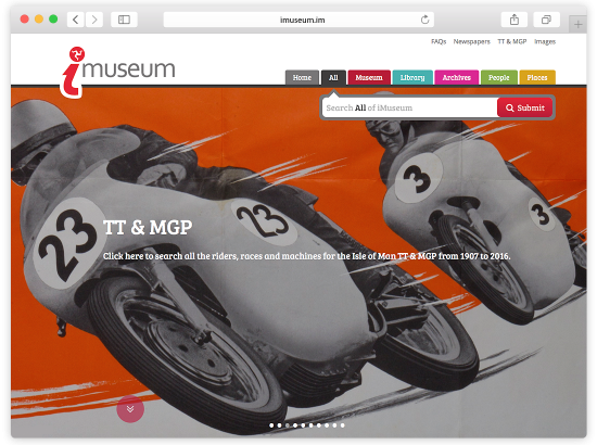 iMuseum website design