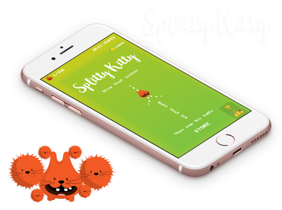 Splitty Kitty - iOS and Android app game development